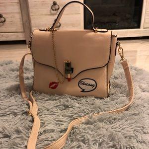 Fashion Color Beige Leather Satchel Handbag 👜